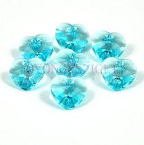 Swarovski fűzhető szív - 10.3x10.0 mm - Light Turquoise