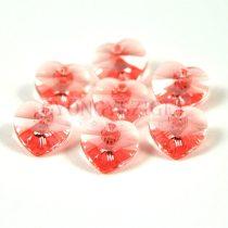 Swarovski fűzhető szív - 10.3x10.0 mm - Rose Peach