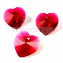 Swarovski beadable heart 18 x 17.5 mm - Scarlet