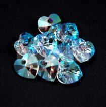 Swarovski fűzhető szív - 10.3x10.0 mm - Crystal Shimmer
