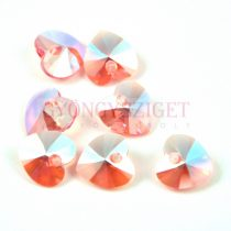 Swarovski fűzhető szív 10.3x10.0 mm - Rose Peach Shimmer