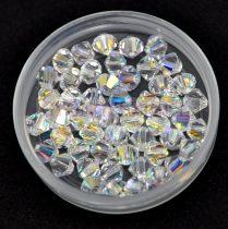 Swarovski bicone 4mm - Crystal AB