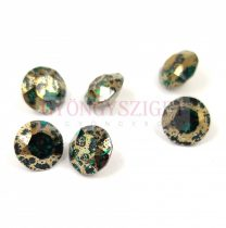 Swarovski chaton - 8mm -  Emerald Gold Patina - 1088
