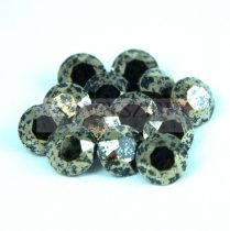 Swarovski chaton - 8mm -  Jet Gold Patina - 1088