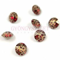 Swarovski chaton - 8mm -  Scarlet Gold Patina - 1088
