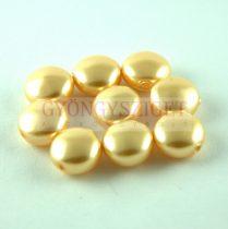 Swarovski Crystal Coin gyöngy - 5860 - 10mm - Gold