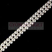 Swarovski - cyrstal mesh - varrható/fűzhető ezüst foglalatos kristály - crystal - pp21 - 2 soros
