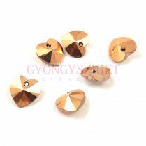 Swarovski fűzhető szív 14.4x14mm - Crystal Rose Gold