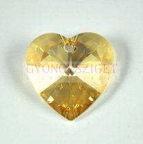 Swarovski fűzhető szív 18mm - Crystal Golden Shadow