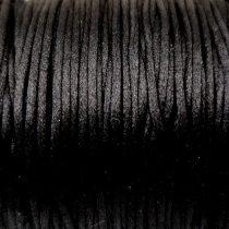 Selyem zsinór (rattail)-1mm-fekete