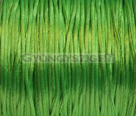 Selyem zsinór (rattail)-1mm-világos zöld