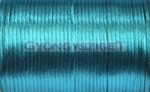 Rattail - Silky Finish Synthetic Cord - 2mm - aquamarine