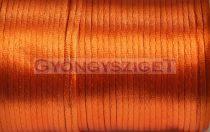 Selyem zsinór (rattail)-2mm-narancs