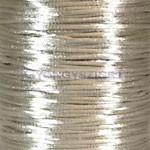 Selyem zsinór (rattail)-2mm-törtfehér