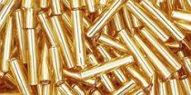 Toho szalmagyöngy - 22b - Silver Lined Med Topaz - 9mm