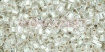 Toho kocka gyöngy - 21 - silver lined crystal - 1.5mm