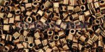 Toho kocka gyöngy - 221 - bronz -1.5mm