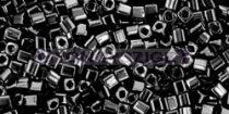 Toho kocka gyöngy - 49 - telt fekete - 1.5mm