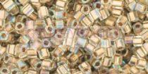 Toho kocka gyöngy - 994 - gold lined rainbow crystal - 1.5mm