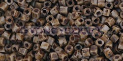 Toho kocka gyöngy - y311 - hybrid telt levendula picasso - 1.5mm