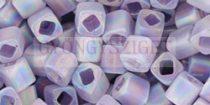 Toho kocka gyöngy - 166df - Transparent Rainbow Frosted Tanzanite - 4mm