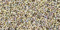 Toho demi round gyöngy - 994 - gold lined rainbow crystal - 11/0