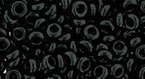 Toho demi round gyöngy - 49 - Opaque Black  - 6/0