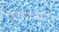 Toho demi round gyöngy - 1079 - Baby Blue Lined Crystal - 8/0
