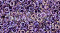 Toho demi round gyöngy - 774 - Grape Lined Rainbow Crystal - 8/0