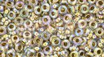 Toho demi round gyöngy - 994 - Gold Lined Rainbow Crystal - 8/0