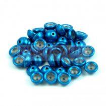 Teacup - cseh préselt gyöngy -  Saturated Metallic Nebulas Blue - 2x4mm