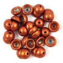 Teacup - cseh préselt gyöngy -  Saturated Metallic Russet Orange - 2x4mm