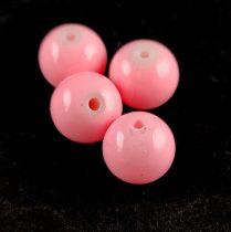 Tekla golyó gyöngy - Pink - 10mm