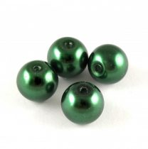 Tekla golyó gyöngy - Dark Green - 10mm