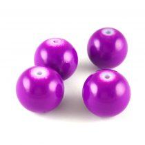 Tekla golyó gyöngy - Purple - 14mm