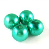 Tekla golyó gyöngy - Metallic Turquoise - 14mm