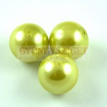 Imitation pearl round bead - Lime - 16mm