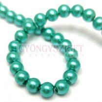 Tekla golyó gyöngy - Turquoise Green - 6mm (szálon - kb. 145db/szál)