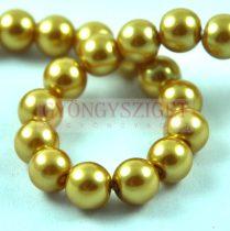 Tekla golyó gyöngy - Honey Gold - 8mm (szálon - kb. 55db/szál)
