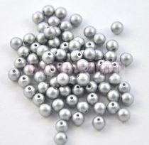 Tekla golyó gyöngy - ezüst -4mm