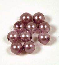 Tekla golyó gyöngy - antique purple -8mm