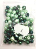 Tekla golyó gyöngy mix - Green - 6mm