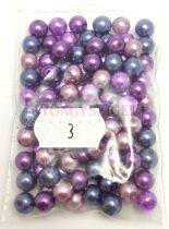 Tekla golyó gyöngy mix - Purple - 6mm
