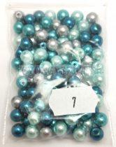Tekla golyó gyöngy mix - Turquoise - 6mm