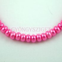 Imitation pearl rondelle - Pink - 3.5x5mm (sold on a strand - 120pcs/strand)