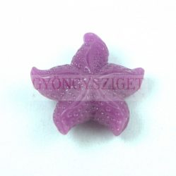 Gyanta gyöngy - tengeri csillag - Lila - 22mm