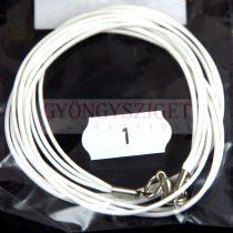 Textil nyakláncalap - fehér - delfinkapoccsal - 46-47 cm