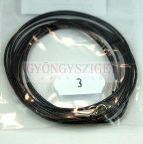Textil nyakláncalap - fekete - delfinkapoccsal - 46-47 cm