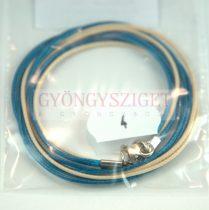 Textil nyakláncalap - turqiouse-beige - delfinkapoccsal - 46-47 cm