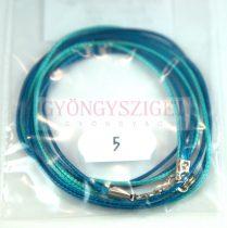 Textil nyakláncalap - turqiouse-aqua - delfinkapoccsal - 46-47 cm